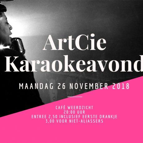 Artcie karaokeavond banner
